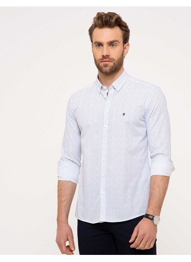 Pierre Cardin Slim Fit Ekose Gömlek Renkli